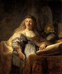 Rembrandt van Rijn (1606-1669). Minerva in Her Study. 1635. Oil on canvas. 138 x 116.5 cm