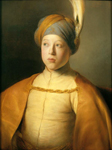 Jan Lievens (1607-1674). Boy in a Cape and Turban (Portrait of Prince Rupert of the Palatinate). ca. 1631. Oil on panel. 66.7 x 51.8 cm