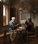 Jan Steen (1626–1679). Prayer Before the Meal. 1660. Oil on oak panel. 54.3 x 46 cm
